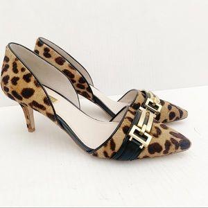 Louise et Cie  Calf Hair Leopard Print Pumps